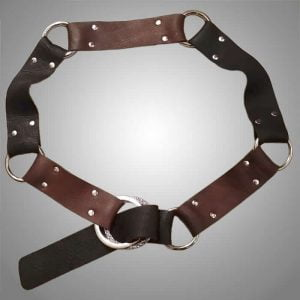 Brown black cowhide belt