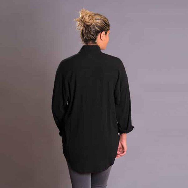 Black gauze boyfriend shirt