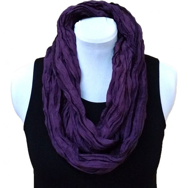 Eggplant silk infiniti scarf