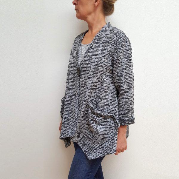 Grey v-neck jacket