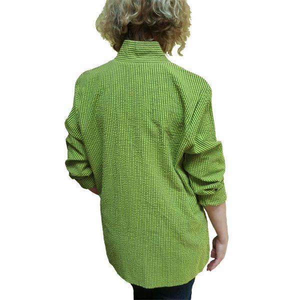 Chartreuse seersucker big shirt