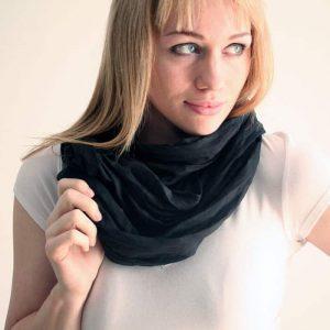 Black silk infiniti scarf