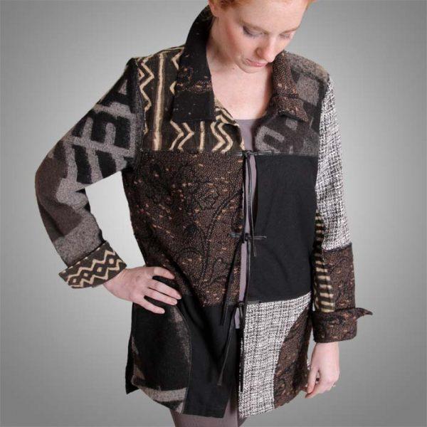 Black brown grey Collectors jacket