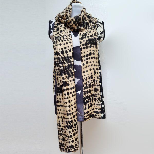Sleeveless silk tunic