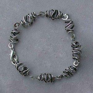Handwrapped sterling bracelet