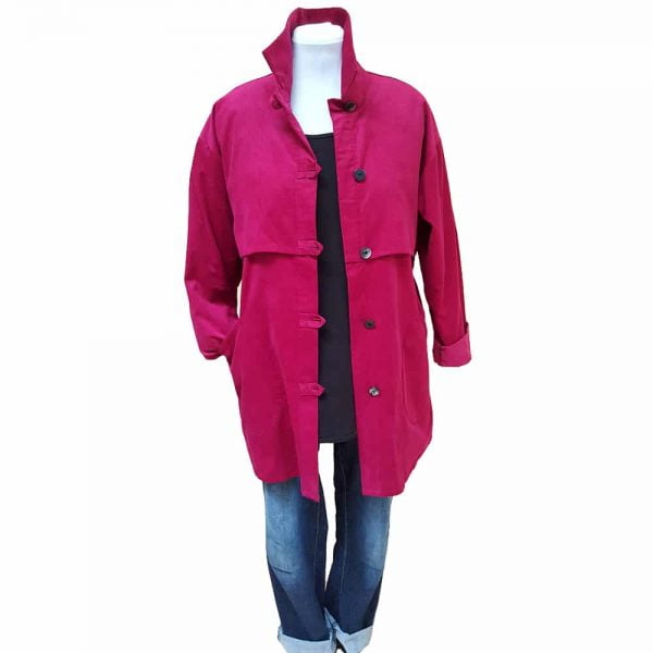 Pink trench jacket