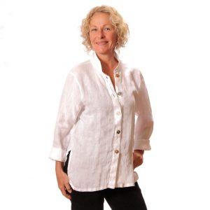 White linen big shirt