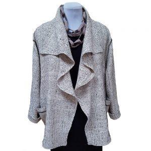 Beige silk drape jacket