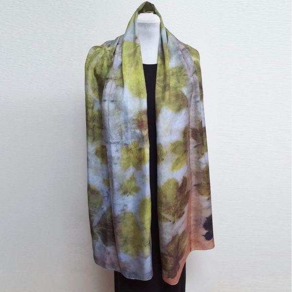 Chestnut eco dyed silk scarf