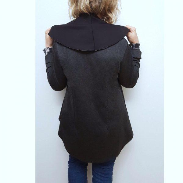 Black grey zipper jacket