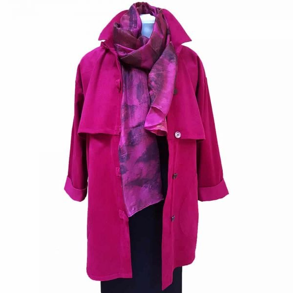 Pink cotton trench jacket
