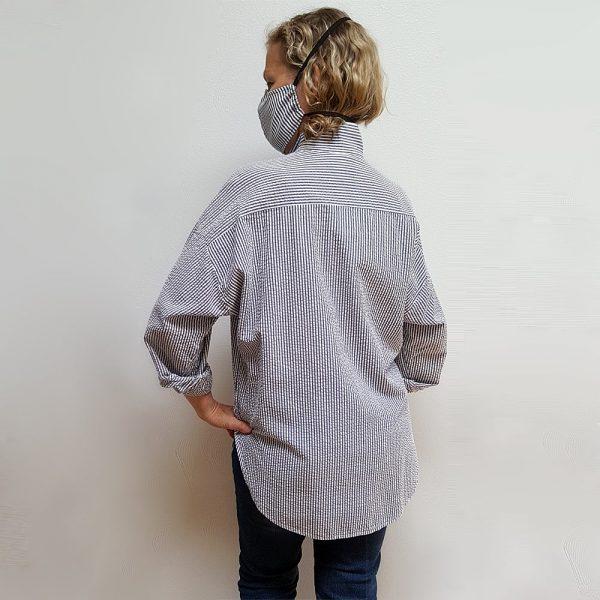 Seersucker boyfriend shirt