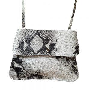 Snake embossed cowhide purse