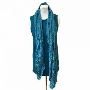 Teal silk scarf